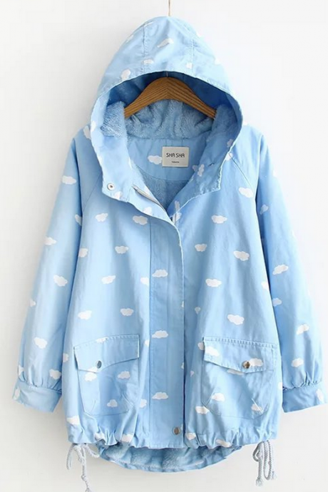 Clouds Hooded Jacket YL-149
