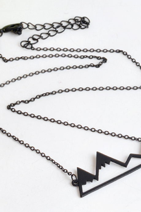 Minimalist Snowy Mountain Top necklace
