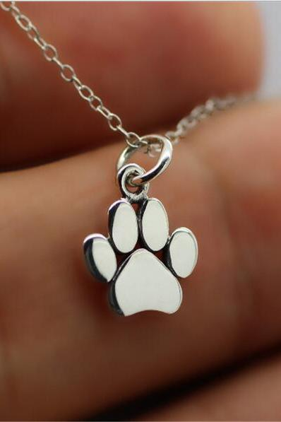 2017 New Choker Necklace Tassut Cat and Dog Paw Print Animal Jewelry Women Pendant Long Cute Delicate Statement Necklaces