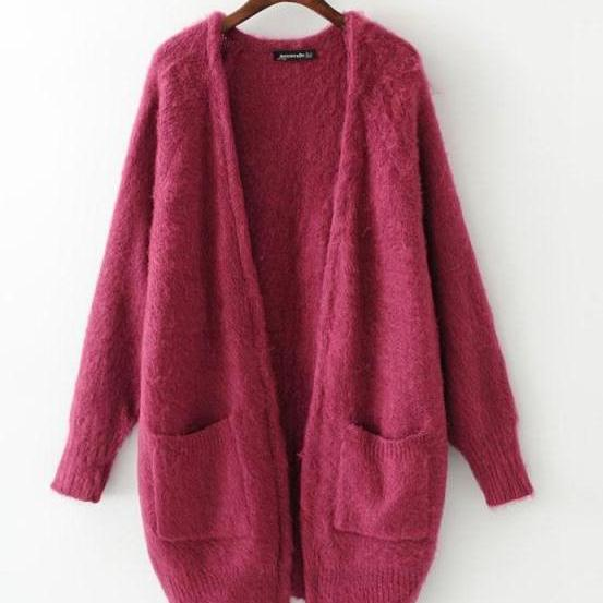 Warm thick double pockets sweater