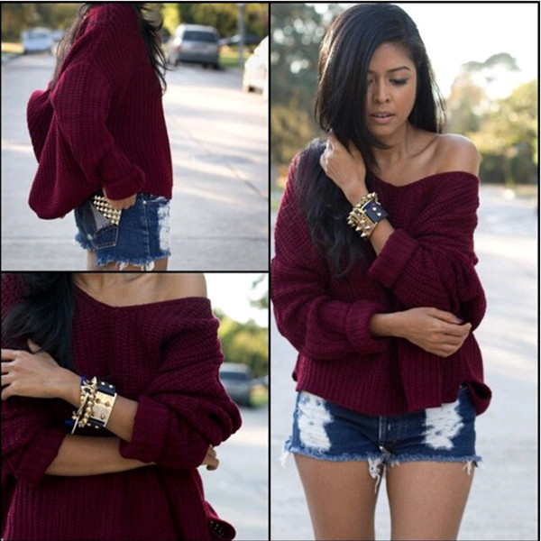 Women Oversized Knitted Sweater Long Sleeve Tops Cardigan Loose Coat Outwear