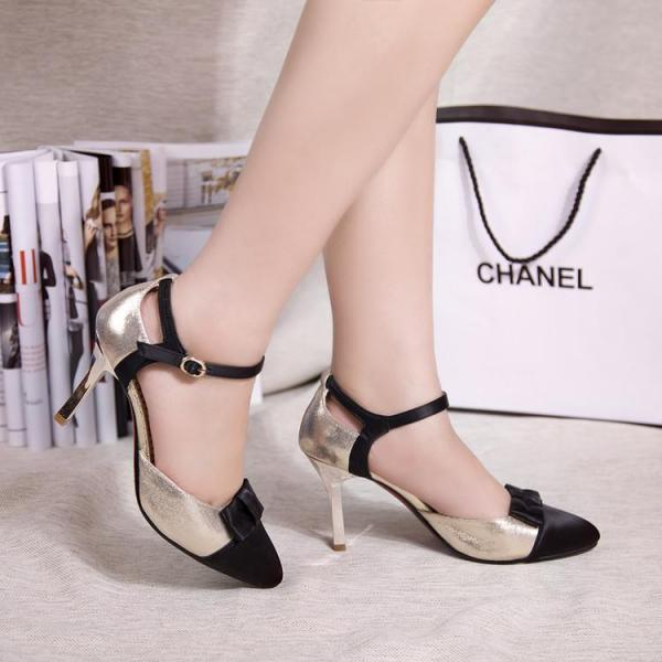 Women's Colour-matching Stiletto Pointed Toe Pump Sandals