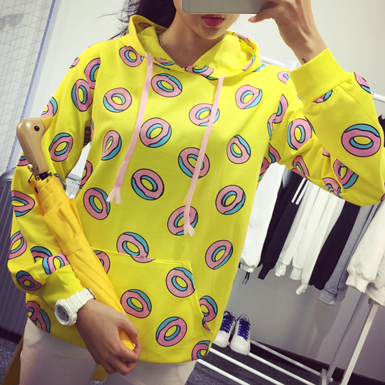 Harajuku cute donut hoodies