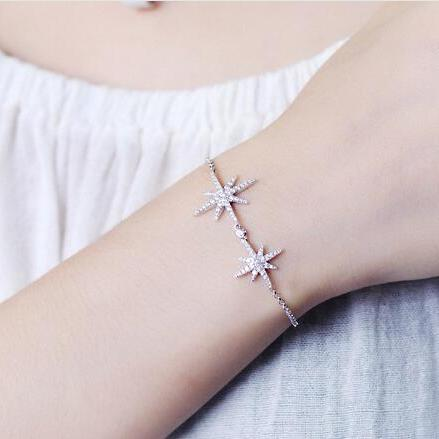 Inlay zircon snow bracelet