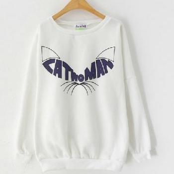Harajuku Catwoman High Quality Sweater Sweatshirt. Three Colors Available