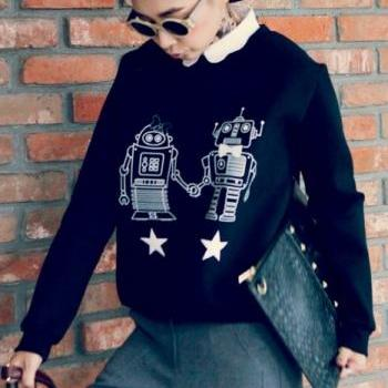 Robots In Love Sweater