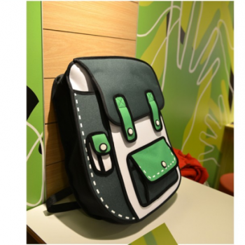 The Most Cute green 3D Cartoon Backpack