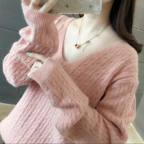 Women's Korean loose needle pullover sweater