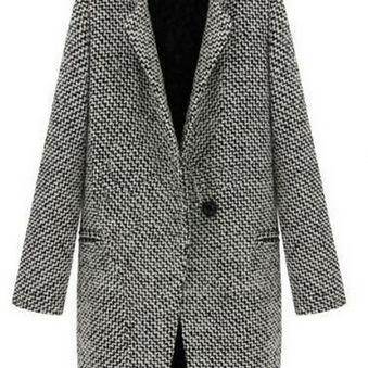 Women's slim thick woolen coat