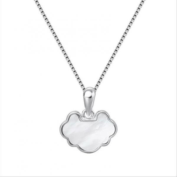 925 sterling silver cloud/simple shell christmas gift
