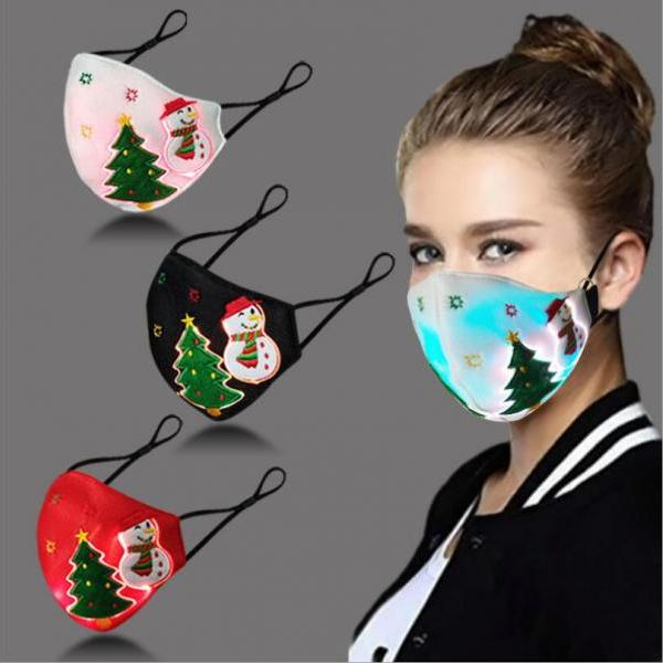 Fashion LED illuminated christmas mask