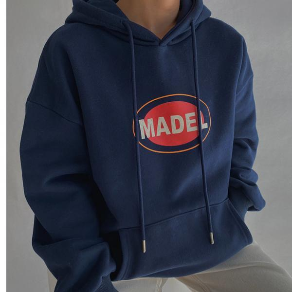 Simple letter printing hooded women's sweater