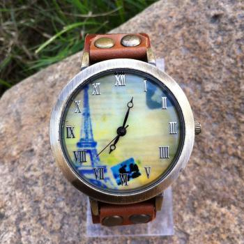 Retro Eiffel Tower Original Leather Watch