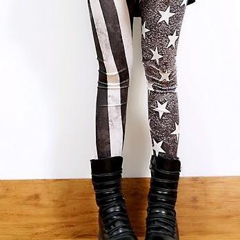 New Spring autum Fall 2014 Vintage American Flag Leggings
