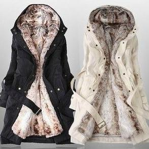 Fashion Faux Fur Lined Coat