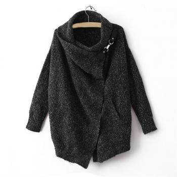 Fashion Casual Style Splicing Pothook Sweater For Women