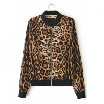 Sexy Chic Leopard Print Jacket