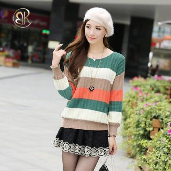 Women Pullover Sweater Loose Round Neck Long Sleeves Sweaters Jackets High Quality