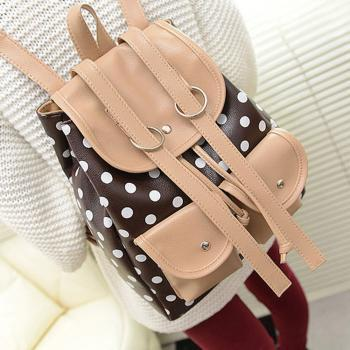 Polka Dot Travel Backpack