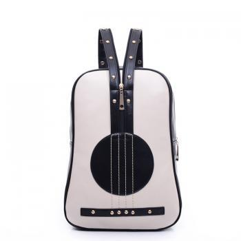 Retro Cello Rivet Leather Backpack