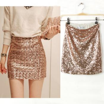 Sexy Aristocratic Ladies Slim Sequined Skirt