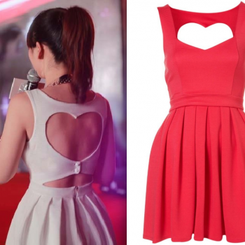 Sexy Cut Out Back Heart Dress (2 Colors)