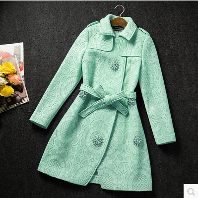 High-End Hand-Beaded Fashion Coat