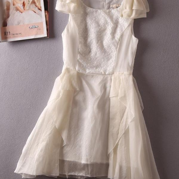 Bow Sleeveless Dress GD0702GF