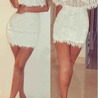 Sexy White Lace Dress GD0702CD