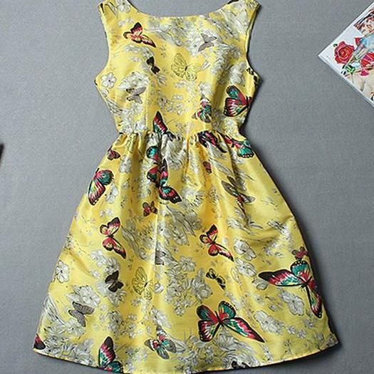 Butterfly Print Tank Dress AFBEB