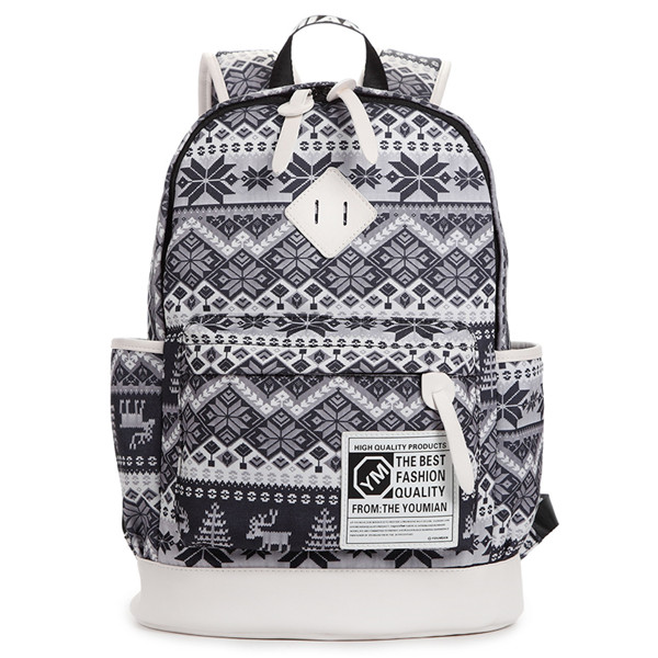 Deers And Hexagram Printed Backpack