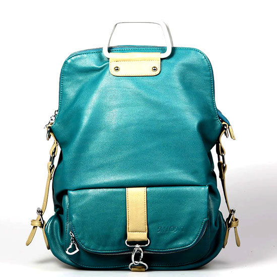 Fashion Light Blue Multifunction Backpack &Handbag