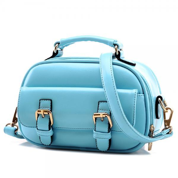 Metallic Buckle Small Cross Body Tote Bag Handbag