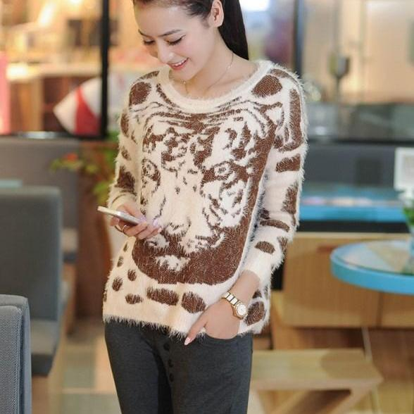 Wool Sweater tiger Sweater knitted Sweaters pullover Sweaters knit Sweaters