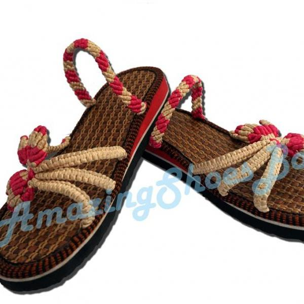 Handmade Velvet Strings Weaved Women's Fashion Sandals & Slippers-Unique And Comfortable 944SZX6D8GW