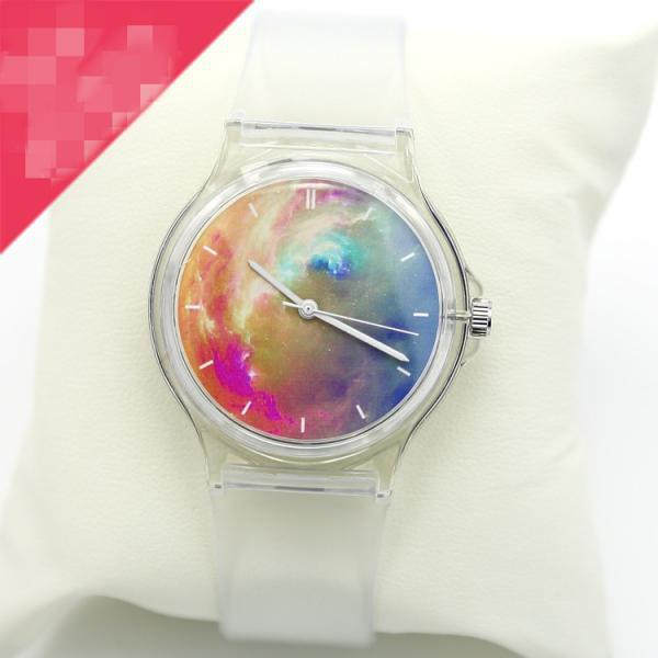 2015 Hot sale Waterproof gradient transparent couple watches