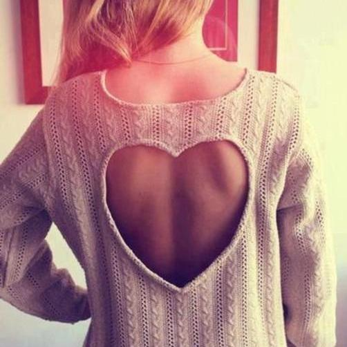 Hot sale Heart Shaped Knitwear for women