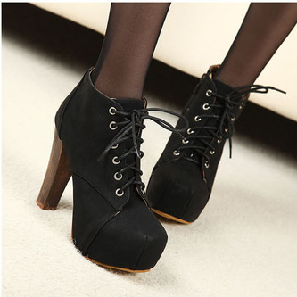Lace Ankle Boots Thick With Martin Boots--Black 70L9Z1B44X5CQALLUNQPD W3X1A4OGM4F