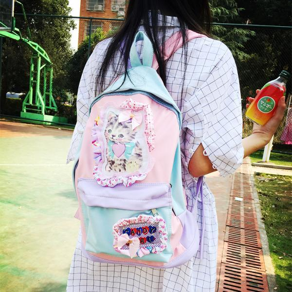 2015 New Lolita Pastel Color Kitty Backpack