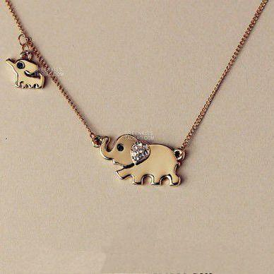 New fashion hot sale Elephant Family Necklace