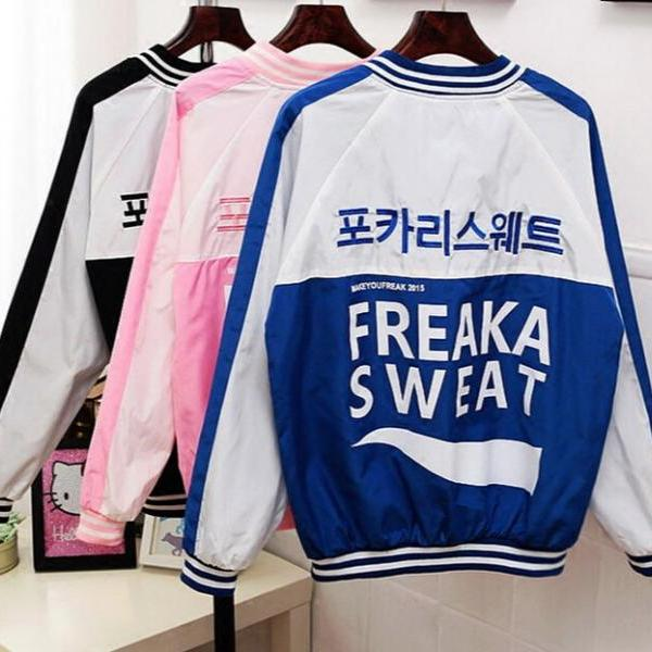 2016 New fashion women HARAJUKU VINTAGE BOMBER JACKET