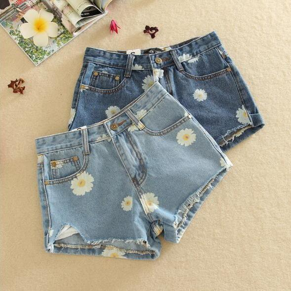 Women summer Denim shorts Jeans Pants Shorts with hole