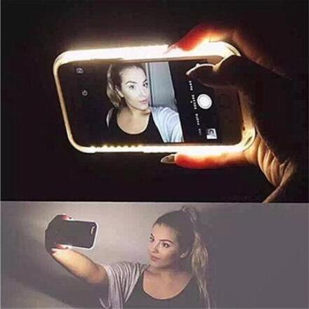 Luxury LED Light Selfie Phone Case for iPhone 6 6S 6splus 4.7'' 5.5'' Luminous Phone Cover