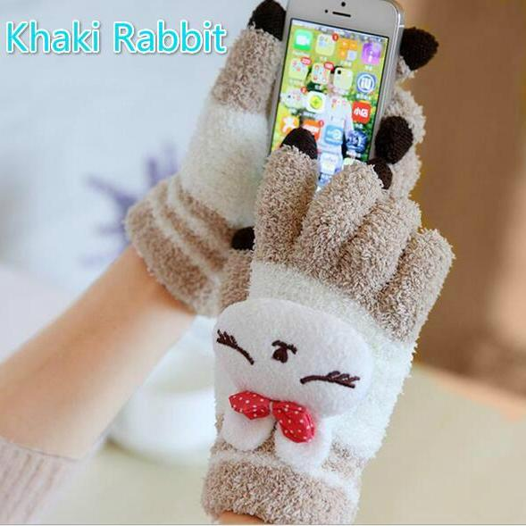 touch screen cartoon warm gloves